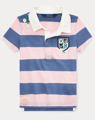 폴로 랄프로렌 Polo Ralph Lauren Embroidered Cotton Rugby,Pink