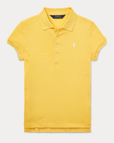 폴로 랄프로렌 여아용 코튼 매쉬 폴로셔츠 - 옐로우 Polo Ralph Lauren Cotton Mesh Polo Shirt,Signal Yellow