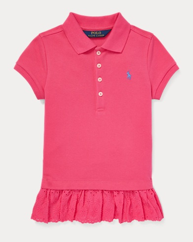 폴로 랄프로렌 Polo Ralph Lauren Eyelet Stretch Mesh Polo,Ultra Pink