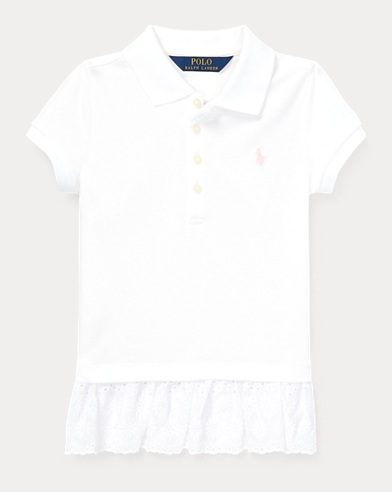 폴로 랄프로렌 Polo Ralph Lauren Eyelet Stretch Mesh Polo,White