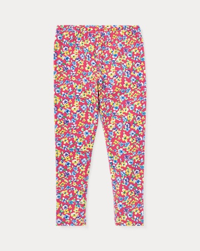 폴로 랄프로렌 Polo Ralph Lauren Floral Jersey Legging,Pink Multi