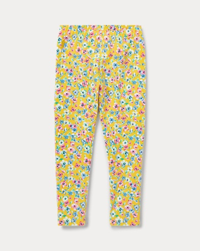 폴로 랄프로렌 여아용 레깅스 Polo Ralph Lauren Floral Jersey Legging,Yellow Multi