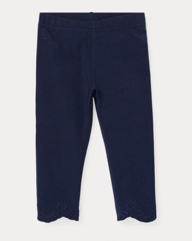 폴로 랄프로렌 Polo Ralph Lauren Eyelet-Cuff Capri Legging,French Navy