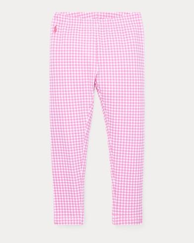 폴로 랄프로렌 Polo Ralph Lauren Gingham Stretch Legging,Baja Pink