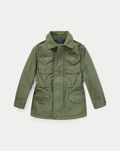 폴로 랄프로렌 여아용 자켓 Polo Ralph Lauren Cotton Twill Military Jacket,Army Olive