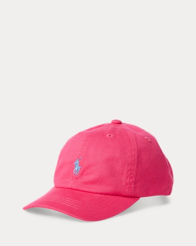 폴로 랄프로렌 Polo Ralph Lauren Cotton Chino Baseball Cap,Ultra Pink
