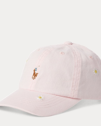 폴로 랄프로렌 Polo Ralph Lauren Floral Chino Baseball Cap,Hint Of Pink