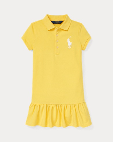 폴로 랄프로렌 Polo Ralph Lauren Big Pony Polo Dress,Signal Yellow