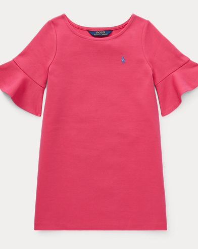 폴로 랄프로렌 Polo Ralph Lauren Ponte Bell-Sleeve Dress,Ultra Pink