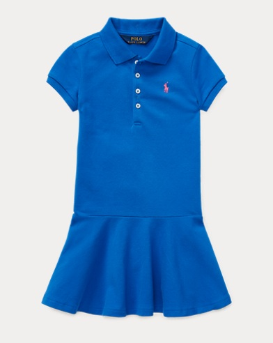 폴로 랄프로렌 Polo Ralph Lauren Stretch Mesh Polo Dress,New Iris Blue