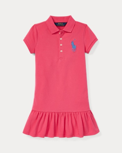 폴로 랄프로렌 Polo Ralph Lauren Big Pony Polo Dress,Ultra Pink