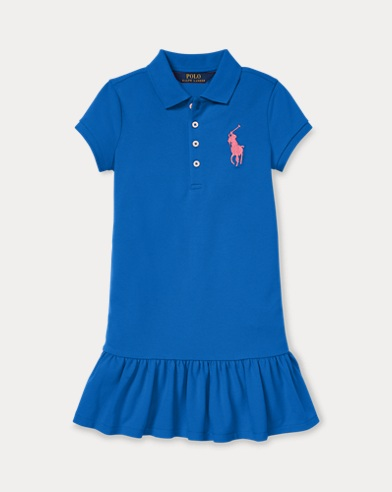 폴로 랄프로렌 Polo Ralph Lauren Big Pony Polo Dress,New Iris Blue