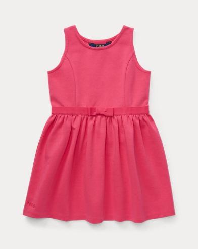 폴로 랄프로렌 Polo Ralph Lauren Ponte Sleeveless Dress,Ultra Pink