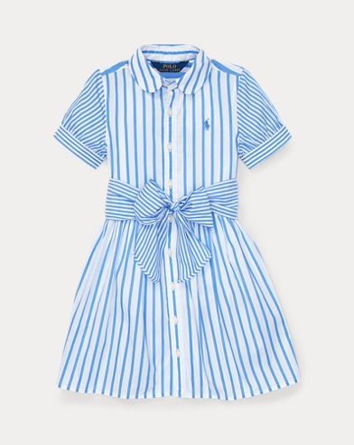 폴로 랄프로렌 Polo Ralph Lauren Striped Cotton Shirtdress,Chopin Blue/White