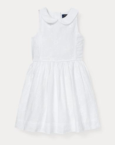 폴로 랄프로렌 Polo Ralph Lauren Floral Embroidered Dress,White