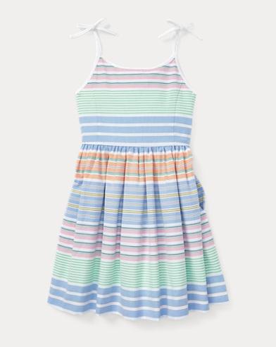 폴로 랄프로렌 Polo Ralph Lauren Striped Cotton Oxford Dress,Blue/White Multi