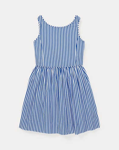 폴로 랄프로렌 여아용 원피스 Polo Ralph Lauren Bengal-Stripe Cotton Dress,Royal/White