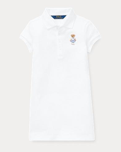 폴로 랄프로렌 Polo Ralph Lauren Cricket Bear Mesh Dress,White