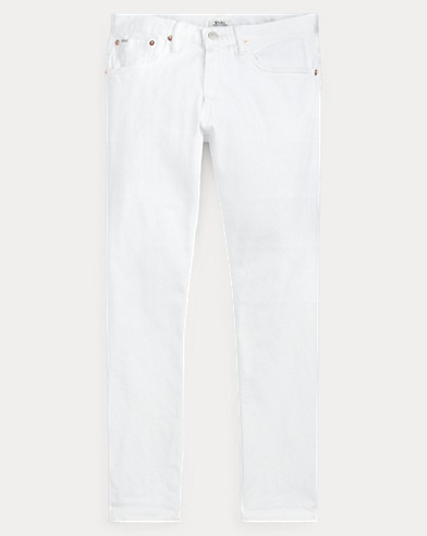 폴로 랄프로렌 Polo Ralph Lauren Hampton Relaxed Straight Jean,Hdn White Stretch