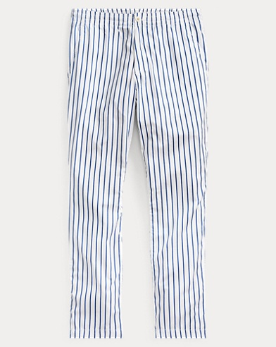 폴로 랄프로렌 Polo Ralph Lauren Relaxed Fit Polo Prepster Pant,White/Royal Stripe