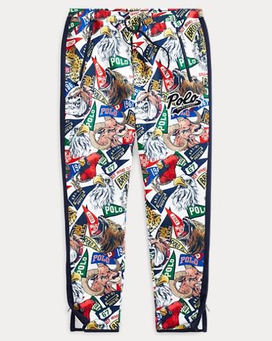 폴로 랄프로렌 Polo Ralph Lauren Double-Knit Graphic Track Pant,Multi