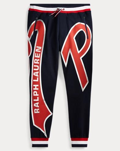 폴로 랄프로렌 Polo Ralph Lauren Double-Knit Logo Pant,Aviator Navy