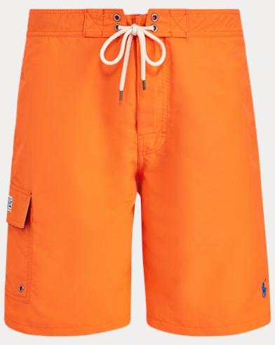 폴로 랄프로렌 Polo Ralph Lauren 8½-Inch Kailua Swim Trunk,Flare Orange
