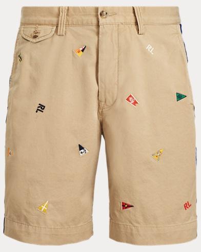 폴로 랄프로렌 Polo Ralph Lauren Stretch Classic Fit Short,Luxury Tan W/ Burgee Emb
