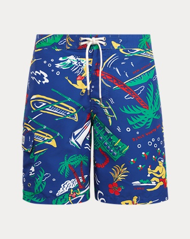 폴로 랄프로렌 Polo Ralph Lauren 8½-Inch Kailua Swim Trunk,Surfside Diary