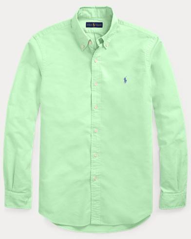 폴로 랄프로렌 Polo Ralph Lauren Classic Fit Oxford Shirt,New Lime