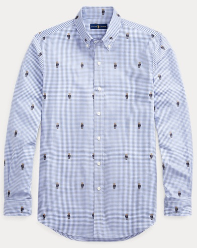폴로 랄프로렌 Polo Ralph Lauren Classic Fit Bear Gingham Shirt,Bears