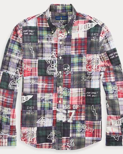 폴로 랄프로렌 Polo Ralph Lauren Classic Fit Patchwork Shirt,Sketchbook Patchwork