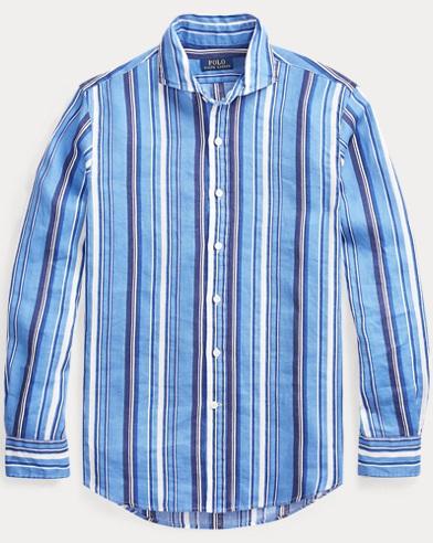 폴로 랄프로렌 클래식핏 린넨 셔츠 Polo Ralph Lauren Classic Fit Linen Shirt,Tonal Vertical Stripe