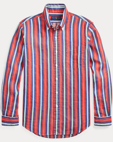 폴로 랄프로렌 Polo Ralph Lauren Classic Fit Striped Shirt,Newport Vertical Stripe