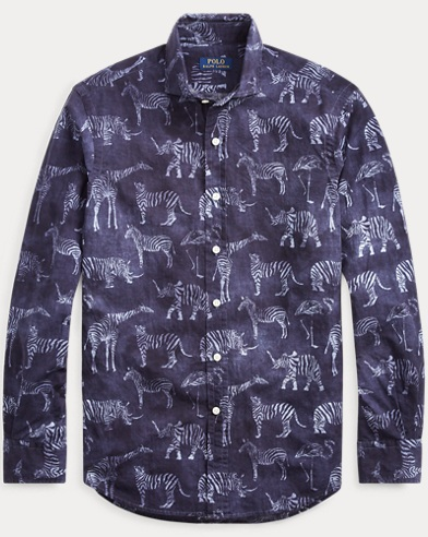 폴로 랄프로렌 Polo Ralph Lauren Classic Fit Safari-Print Shirt,Safari Animals