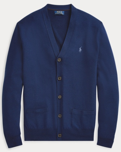 폴로 랄프로렌 Polo Ralph Lauren Wool-Silk-Cashmere Cardigan,Holiday Navy