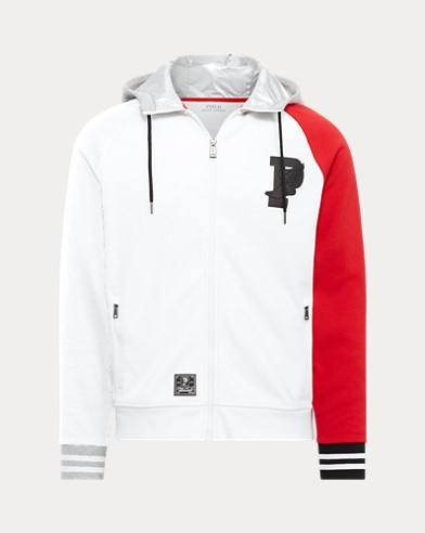 폴로 랄프로렌 Polo Ralph Lauren P-Wing Double-Knit Hoodie,PURE WHITE/POLO BLACK