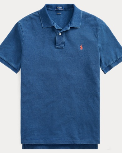 폴로 랄프로렌 매쉬 폴로 셔츠 - 미디움 인디고 Polo Ralph Lauren Indigo Mesh Polo Shirt - All Fits,Medium Indigo