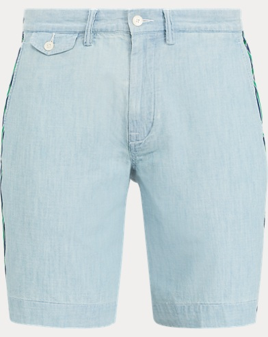 폴로 랄프로렌 Polo Ralph Lauren Classic Fit Chambray Short,Chambray W/ Stripe