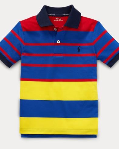 폴로 랄프로렌 남아용 퍼포먼스 라일사 반팔 폴로셔츠 Polo Ralph Lauren Performance Lisle Polo Shirt,Rl-155 Red/Multi
