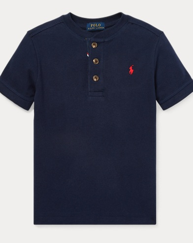 폴로 랄프로렌 Polo Ralph Lauren Cotton Mesh Henley Shirt,Newport Navy