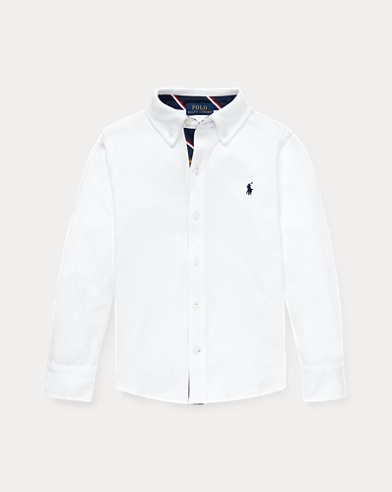 폴로 랄프로렌 Polo Ralph Lauren Cotton Interlock Shirt,White