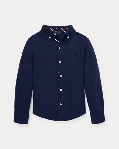 폴로 랄프로렌 Polo Ralph Lauren Cotton Interlock Shirt,Newport Navy