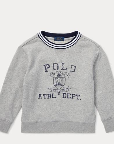 폴로 랄프로렌 남아용 스웻셔츠 Polo Ralph Lauren Twill Terry Graphic Sweatshirt,Andover Heather
