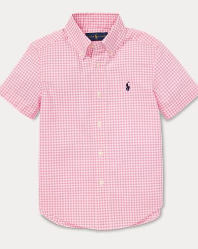 폴로 랄프로렌 Polo Ralph Lauren Gingham Cotton Poplin Shirt,Pink Multi