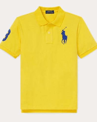 폴로 랄프로렌 Polo Ralph Lauren Cotton Mesh Polo Shirt,Lemon Rind