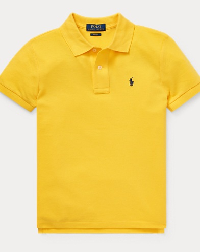 폴로 랄프로렌 Polo Ralph Lauren Slim Fit Cotton Mesh Polo,Yellow Fin