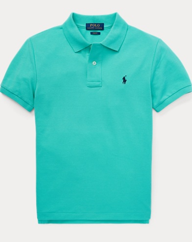 폴로 랄프로렌 Polo Ralph Lauren Slim Fit Cotton Mesh Polo,Sunset Green
