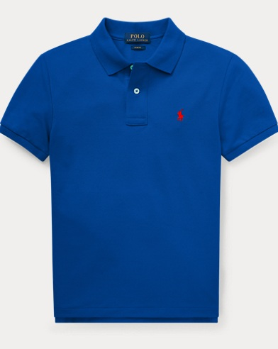 폴로 랄프로렌 Polo Ralph Lauren Slim Fit Cotton Mesh Polo,Sapphire Star
