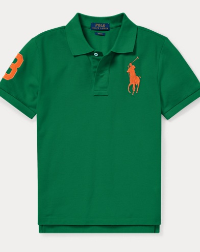 폴로 랄프로렌 Polo Ralph Lauren Slim Fit Cotton Mesh Polo,Kayak Green